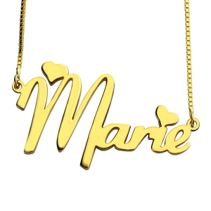 Personalised Nameplate Necklace for Girls 18K Gold Plated